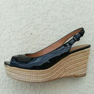 COACH Ferry Espadrilles Wedge Heel Summer Sandals